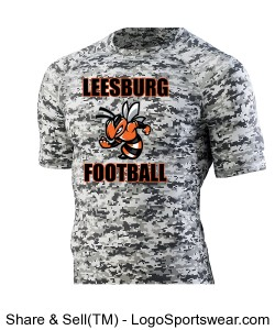 Leesburg Football Hyperform Compression Long Sleeve Shirt Design Zoom