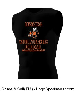 Leesburg Yellow Jackets Football Hyperform Sleeveless Compression Shirt Design Zoom